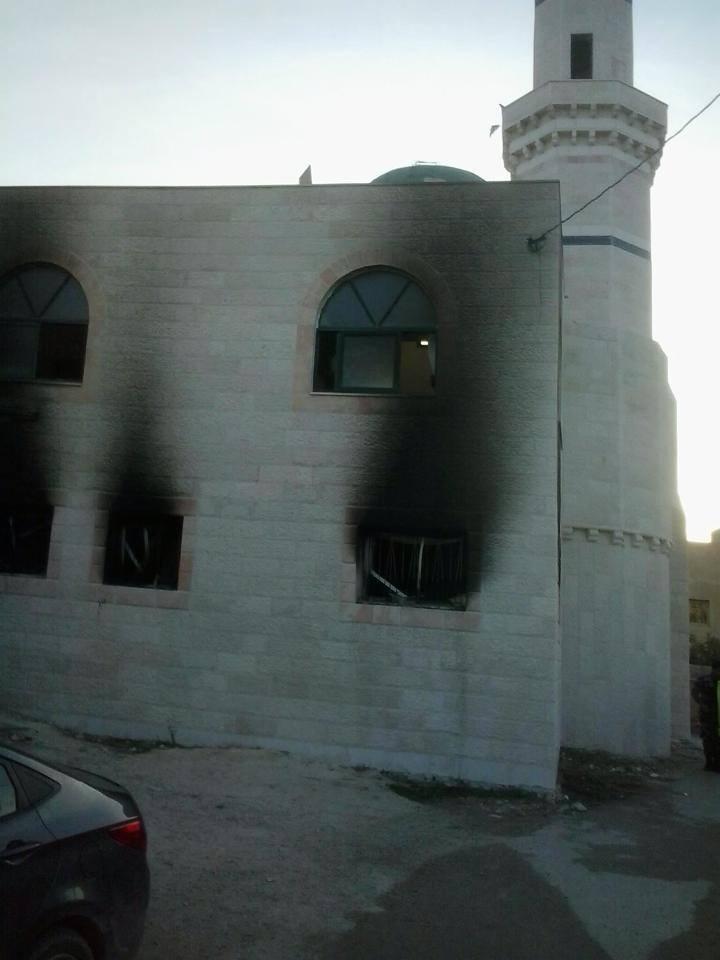 Yahudi Yerleşimciler Ramallah'ta Cami Yaktı galerisi resim 1