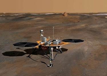 Phoenix Mars yüzeyinde galerisi resim 1