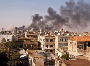 Suriye Rejimi Humus'u Vurdu