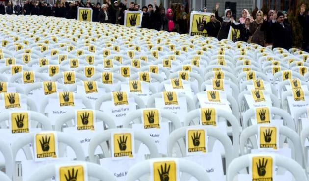 Mazlumlar 'Sessiz Sandalye'lerle anıldı