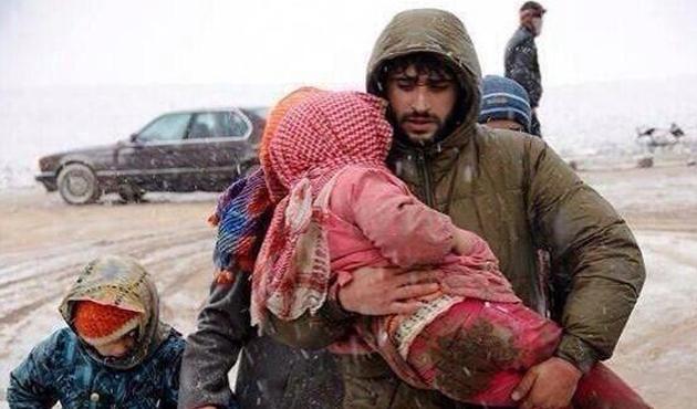 Suriye'de 9 çocuk daha donarak öldü