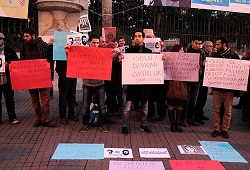 Suriye'deki tutuklama ve kaçırma olaylarına karşı eylem