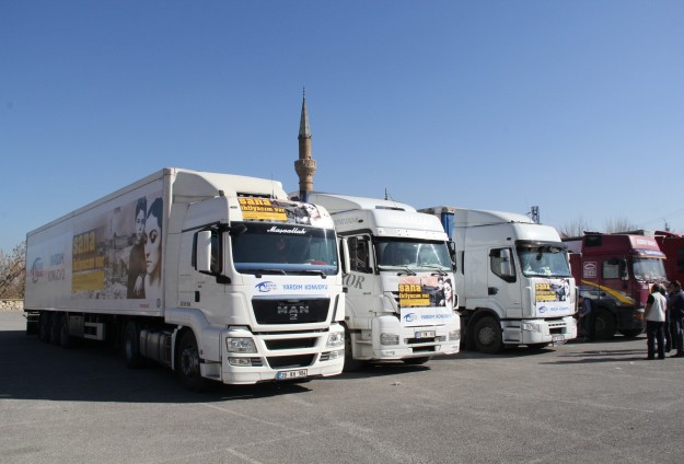 Yardım Trlarının 75'i Suriye'ye Ulaştı