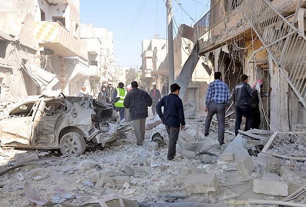 Musul'a varil bombalı hava saldırısı