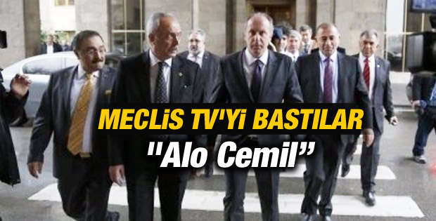 CHP'liler Meclis TV'yi Bastı