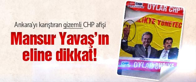 Ankara'da gizemli afiş! Yavaş'ın eline dikkat