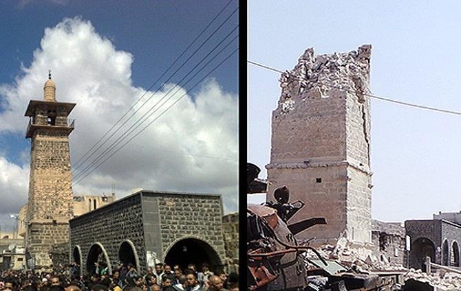 Savaş Bine Yakın Camiyi Yıktı