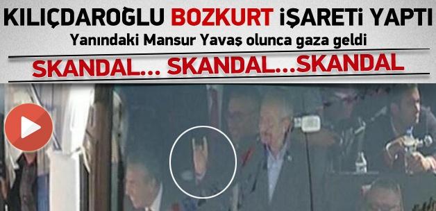 Kılıçdaroğlu Bozkurt İşareti Yaptı(VİDEO)