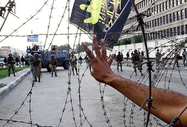 Rabia Meydanı'nda 9 ay sonra gösteri