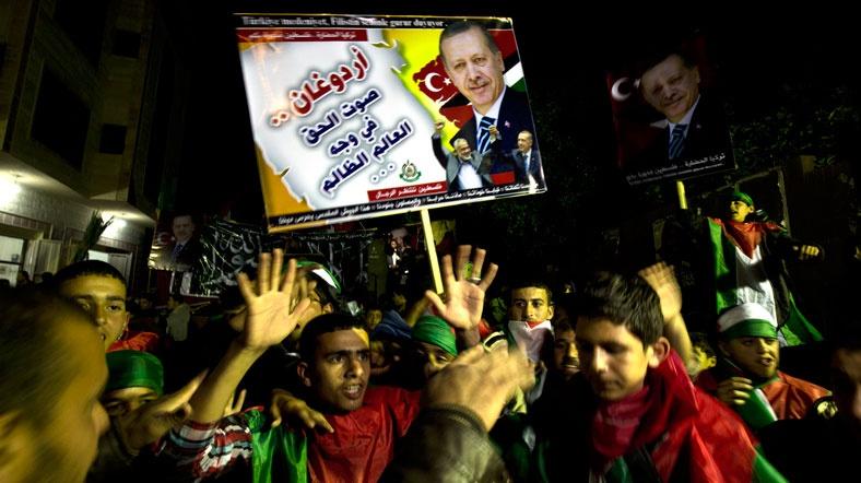 Gazze'de Erdoğan Kutlaması