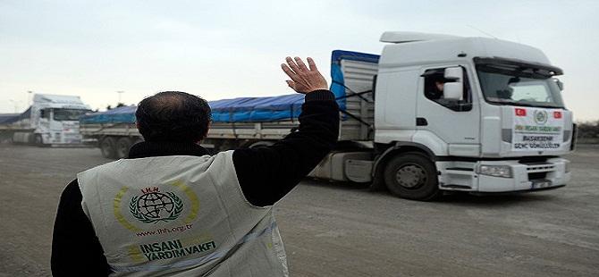 İHH'dan Türkmen ailelere gıda yardımı