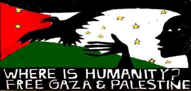 Avrupa Kentlerinde Gazze Gösterileri
