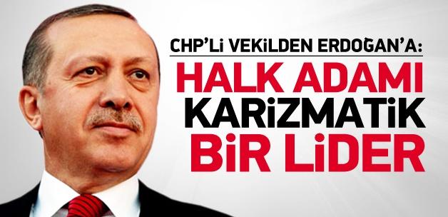 CHP'li vekil, Erdoğan için 'karizmatik lider' dedi
