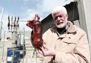 Gazzeli İbrahim Plastikten Yakıt İcat Etti