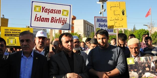Mardin, Mısır'daki idam kararlarını protesto etti