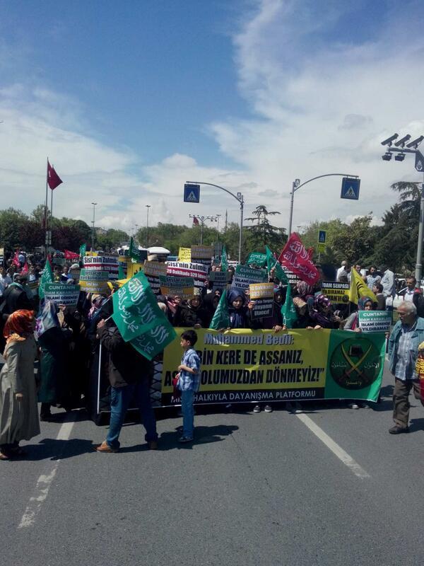 İstanbul'da Mısır Protestosu-FOTO