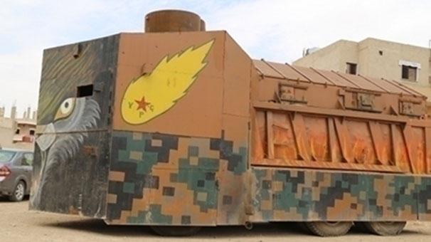Rojava'da el yapımı Kürt tankları!