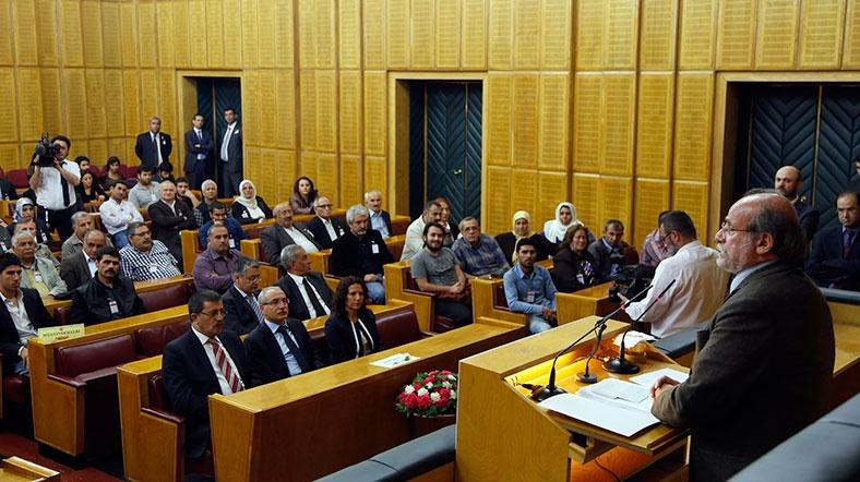 TBMM Başkanı Kahraman, HDP Milletvekili Kürkçü ile Görüştü