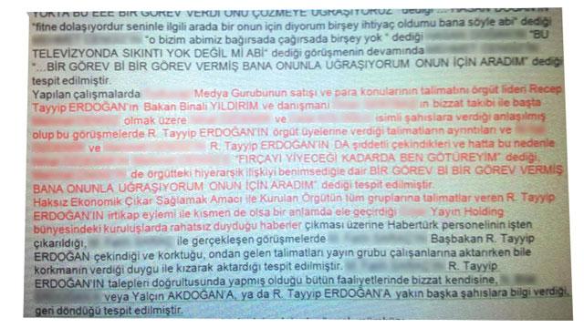 """Şok Belge: """"Örgüt Lideri"""" R. Tayyip Erdoğan"""