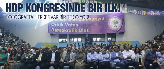 HDP kongresinde Öcalan için bir ilk!