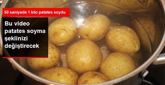 Bir Kilo Patatesi Elli Saniyede Soydu