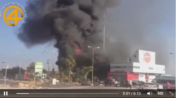 Direniş Aşdod'da Benzin İstasyonunu Vurdu-VİDEO