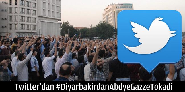 Twitter'dan #DiyarbakirdanAbdyeGazzeTokadi