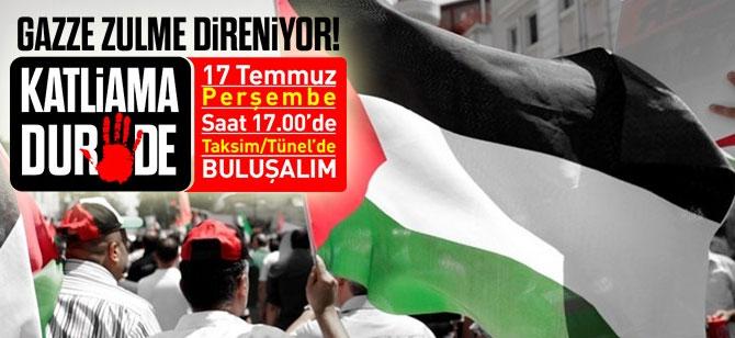 Gazze için yürüyoruz