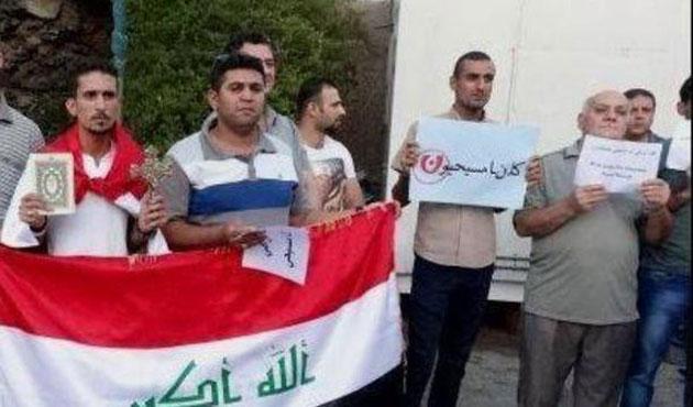 Bağdat'ta Müslüman ve Hristiyanlardan ortak gösteri