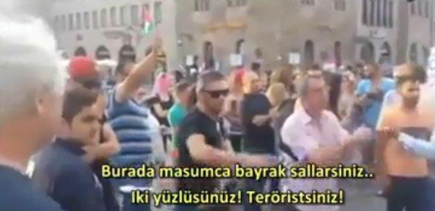 İsrail'e destek yürüyüşünü tek başına dağıttı