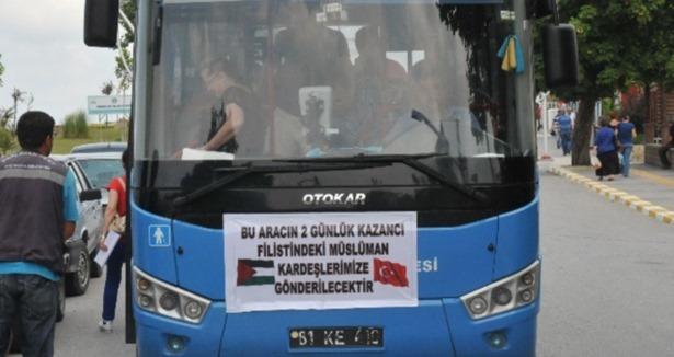 Esnaftan Gazze'ye yardım