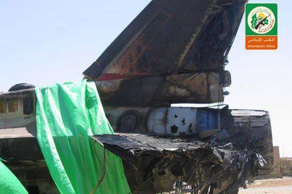 Vurulan İsrail F-16'sı böyle inebildi