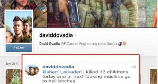 """Siyonist asker Twitter'da yazdı: """"Bugün 13 Filistinli çocuk öldürdüm; bu daha başlangıç"""""""
