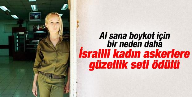 Kozmetik markasından İsrailli askerlere güzellik seti