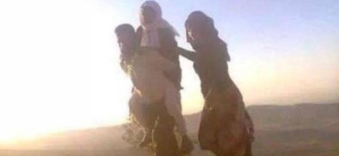 IŞİD tehlikesinden annesini sırtında taşıyarak kaçtı