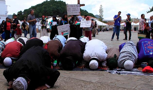 Meksikalı Müslüman yerlilerden Gazze'ye destek