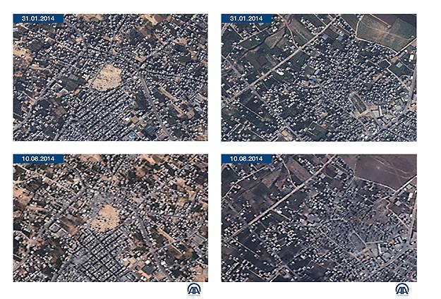 Gazze yıkımını GÖKTÜRK-2 gözler önüne serdi