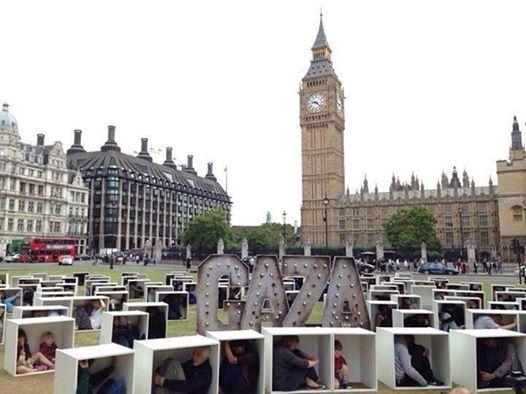 Londra'da Gazze İçin Çarpıcı Eylem