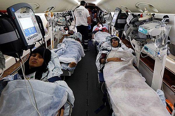 17 Filistinli Tedavi İçin Gazze'den Türkiye'ye Getirildi