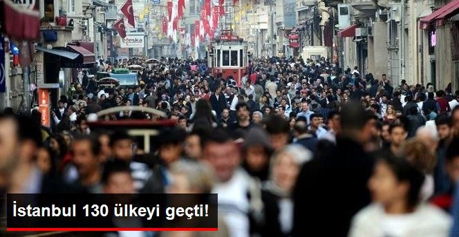 İstanbul'un Nüfusu 130 Ülkeyi Geçti