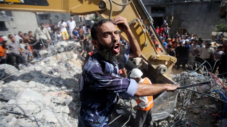 İsrail saldırılarının ardından Gazze
