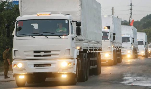 Rus yardım kamyonları geri dönmeye başladı