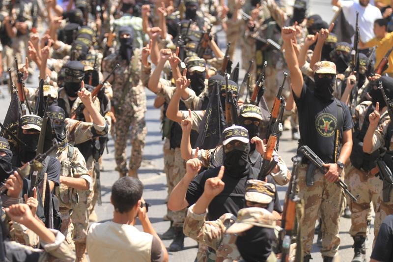 İslami Cihad'dan Gazze'de Gövde Gösterisi-FOTO