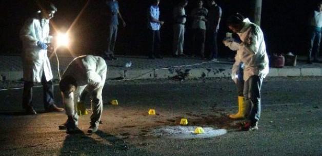 Mardin'de karayoluna havan topu düştü