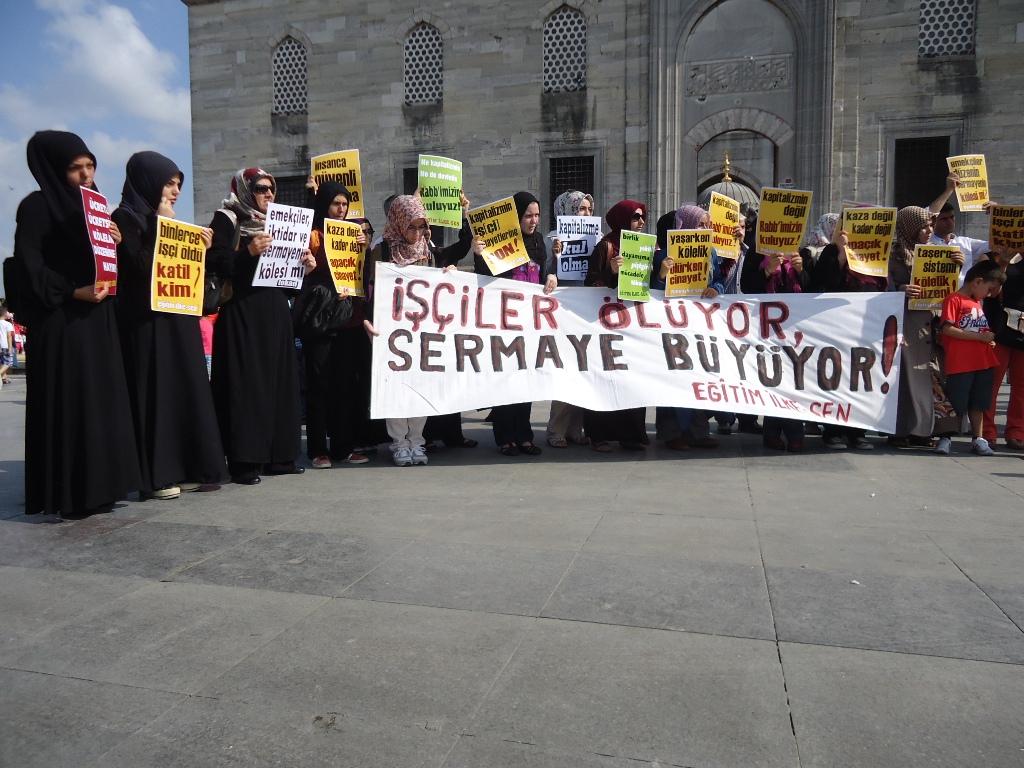 İşçi Cinayetleri Eminönü'nde Protesto Edildi-FOTO