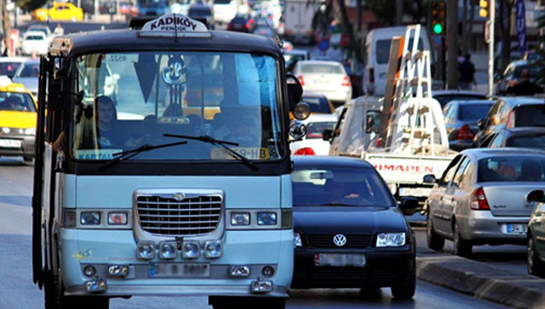 İstanbul'da Servis, Taksi, Minibüs, Taksi Dolmuşlarda Yeni Tarife