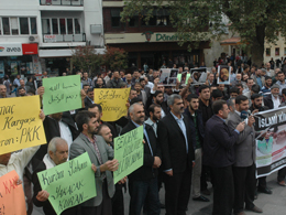 PKK Vahşeti Gaziantep'te Protesto Edildi