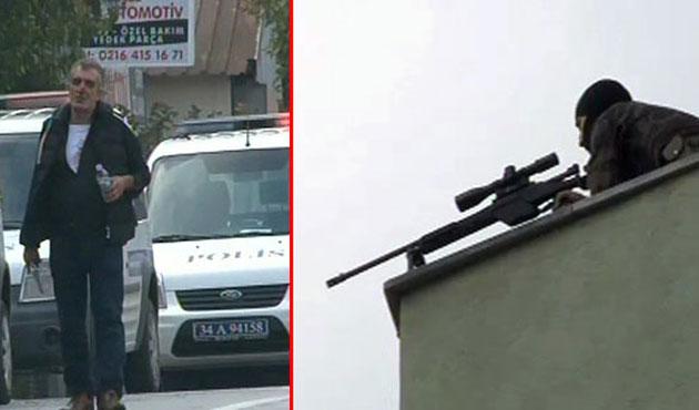 Ümraniye'de polisin silahını alan şahıs dehşet saçtı