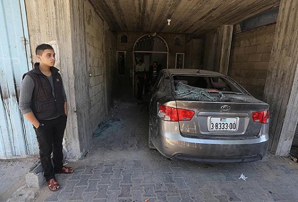 Gazze'de Fetih yetkililerinin evlerine saldırı