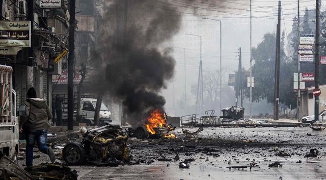 Halep'te Hava Saldırısı; 14 Ölü